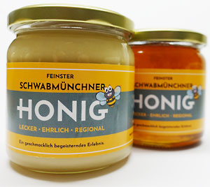Honigglasetikett gestalten und drucken lassen | Imker Werbemittel von Weiss Media Solution